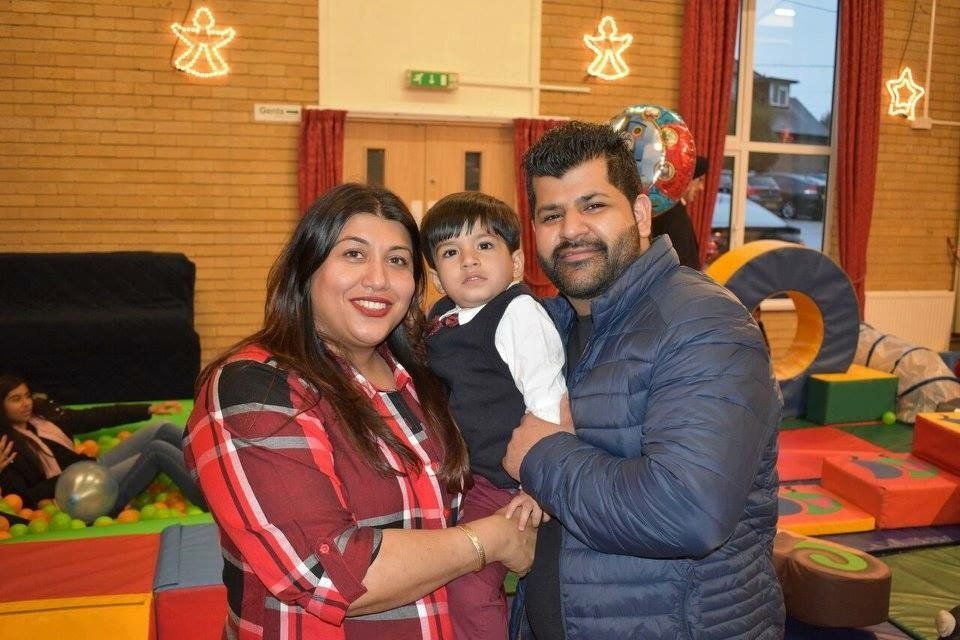 Alka Dass with her son and husband.