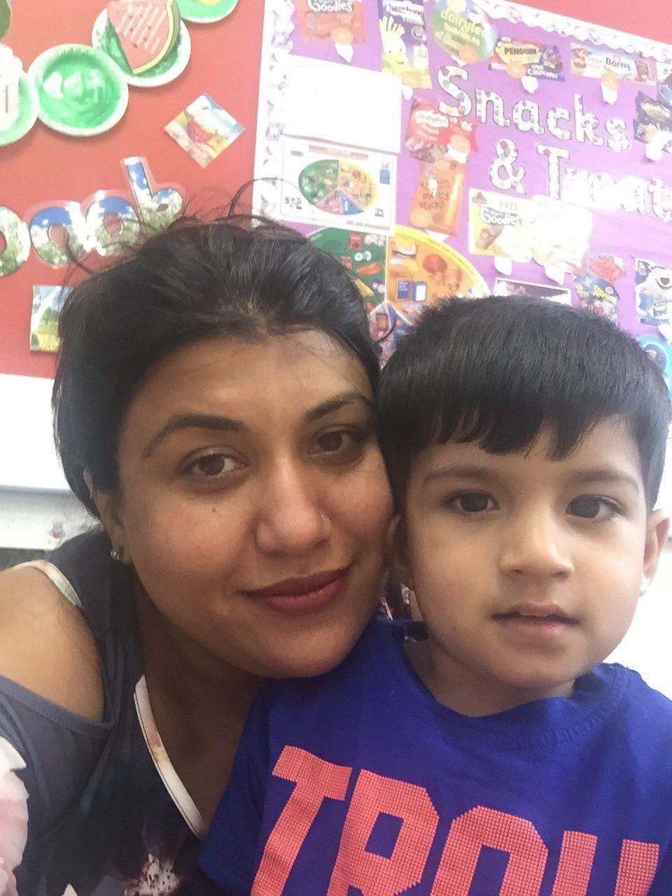 Alka Dass and her son Jai.