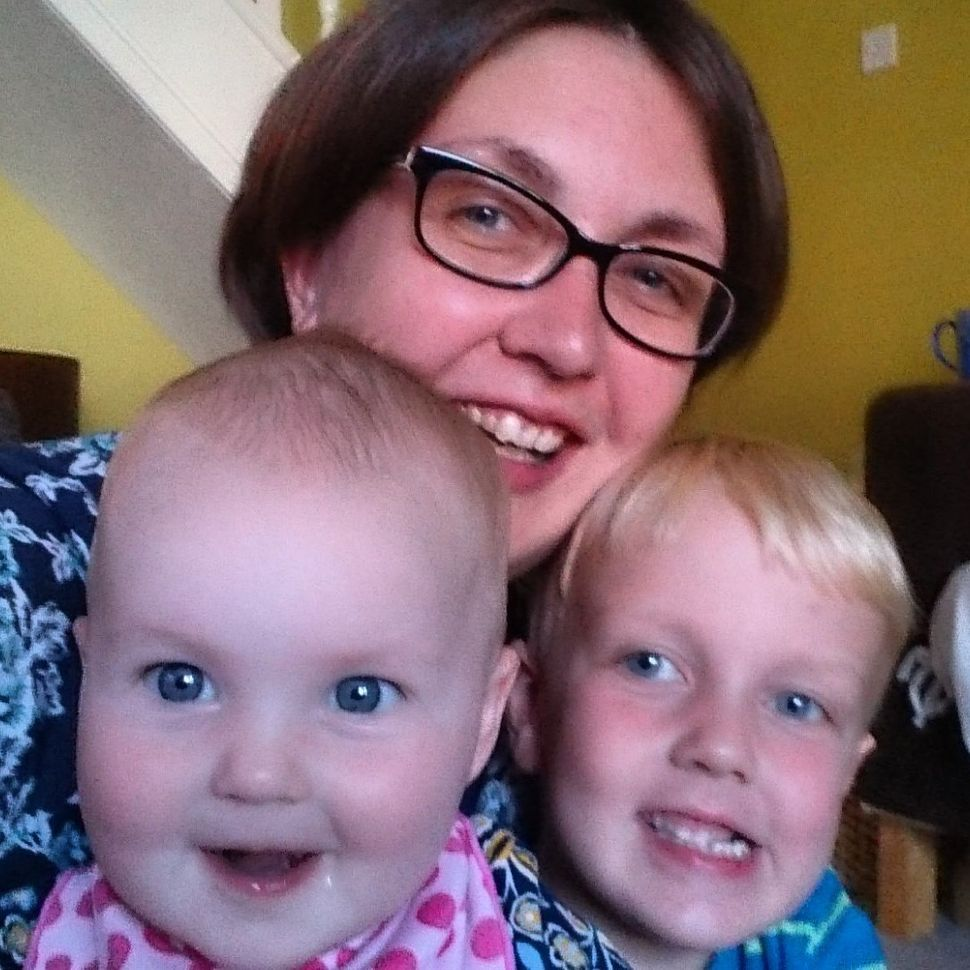 Clare Freemantle with her kids when they were younger.