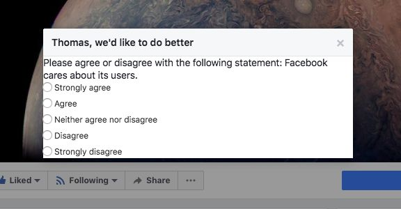 Facebook Poll Asks People If It Thinks It's 'Good For The