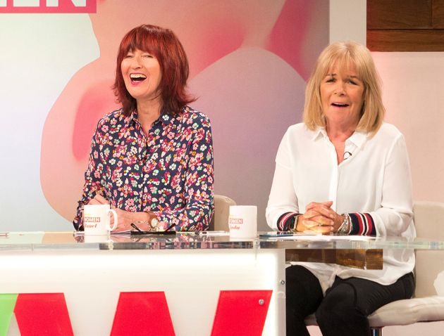 Janet Street-Porter and Linda Robson during yesterday's