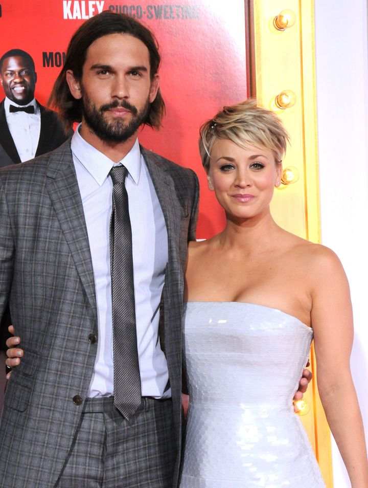 "Ryan Sweeting and Kaley Cuoco at the the premiere of ""The Wedding Ringer"" on Jan. 6, 2015."