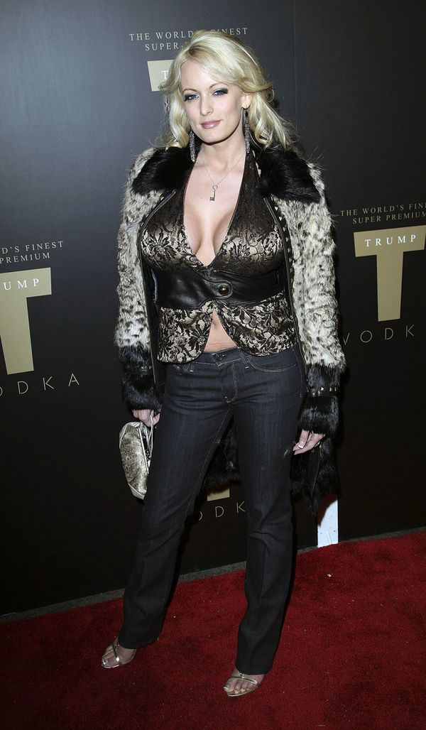 At theTrump Vodka launch party at Les Deux in Los Angeles.