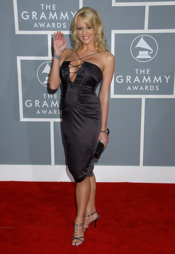 At the 49th annual Grammy Awards at the Staples Center in Los Angeles.