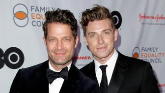 UNIVERSAL CITY, CA - MARCH 17:  (L-R) Nate Berkus and Jeremiah Brent attend the Family Equality Council's annual Impact Awards at The Globe Theatre on March 17, 2018 in Universal City, California.  (Photo by Tibrina Hobson/WireImage)