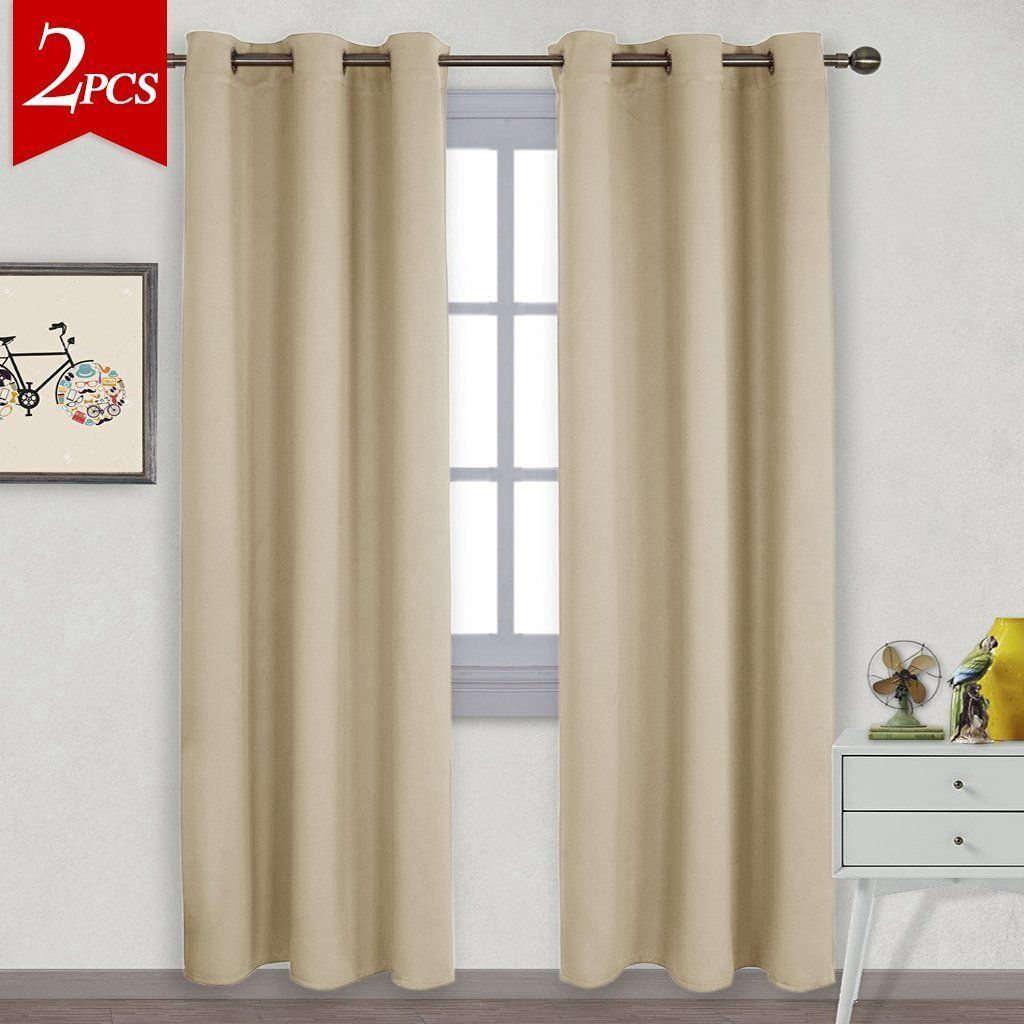 1X Star Home Bedroom Blackout Darkening Curtain Window Panel Drapes Door Drape