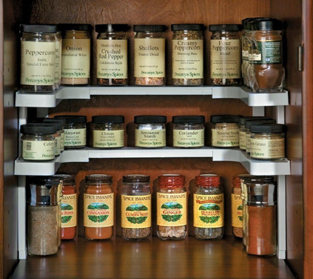 The Spicy Shelf spice rack is perhaps one of the most innovative and useful spice storage & 12 Clever Spice Storage Ideas For Small Spaces | HuffPost