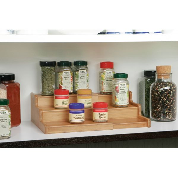 This expandable spice organizer includes 3 elevated rows so you can quickly and easily spot the spices you need. Get it <a hr