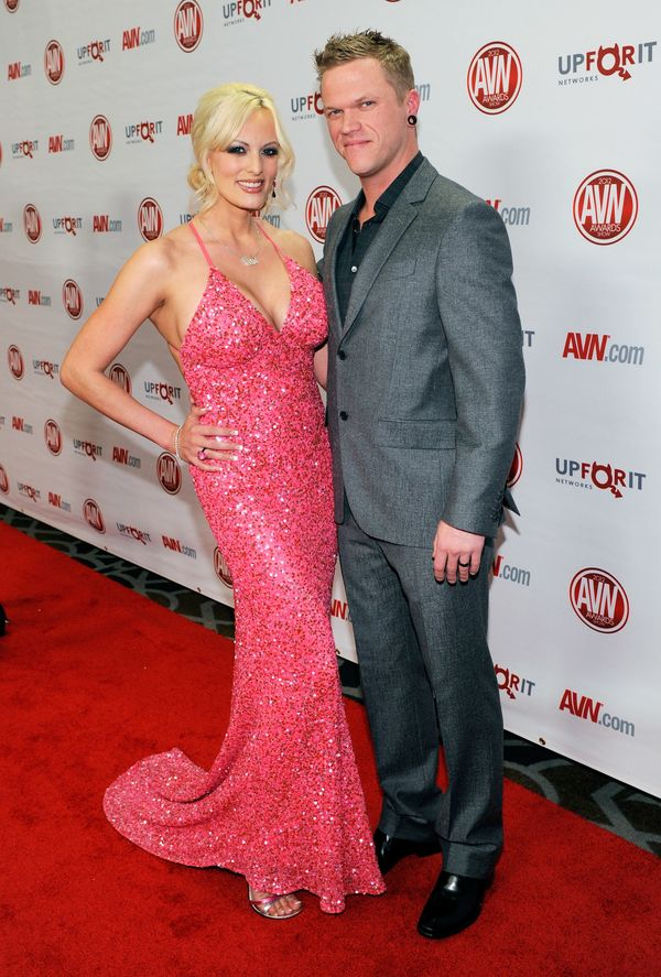 Daniels with her husband, adult film actor Brendon Miller, at the 29th annual Adult Video News Awards Show at the Hard Rock H