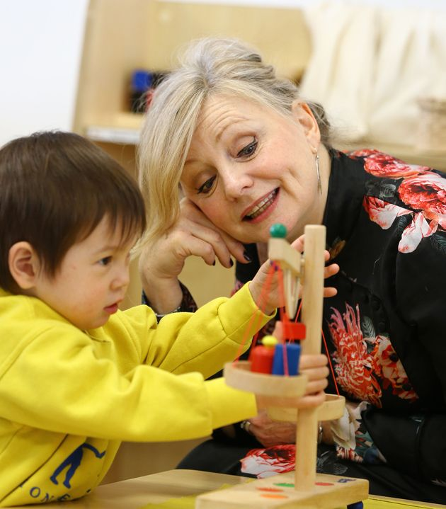 Shadow early years Minister Tracy Brabin during a visit to Little Learners Nursery in Watford