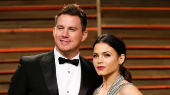 Actors Channing Tatum and Jenna Dewan-Tatum arrive at the 2014 Vanity Fair Oscars Party in West Hollywood, California March 2, 2014. REUTERS/Danny Moloshok (UNITED STATES TAGS: ENTERTAINMENT) (OSCARS-PARTIES)