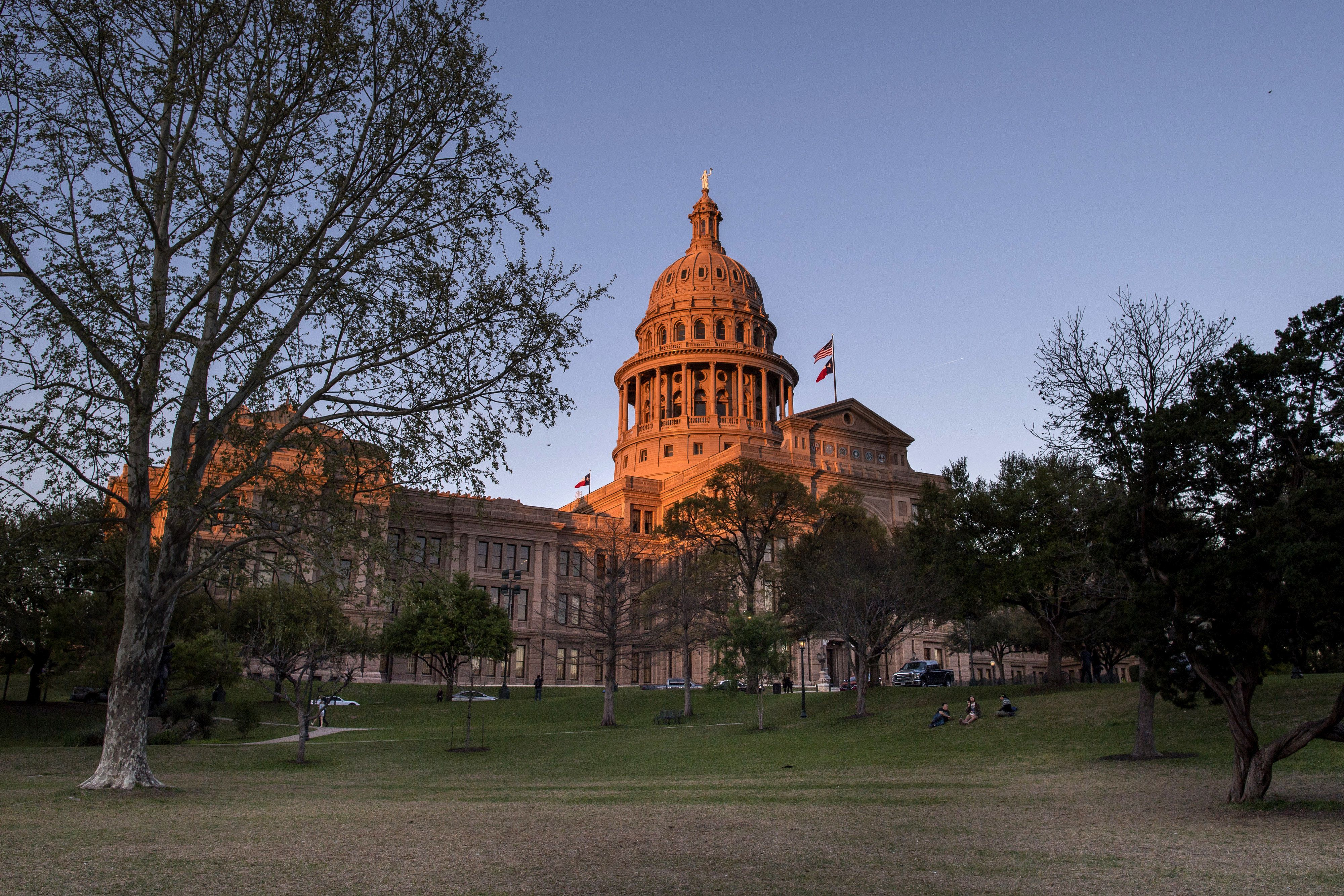 The Texas State Capitol building stands in Austin, Texas, U.S., on Tuesday, March 14, 2017. Austin has spent the last 10 monthsengaged ina bigexperimentin urban transportation.Several hundreds of thousands of people will descend upon Austin for the annual South by Southwest festival, a nine-day event that could be described as a tech conference, a music and film festival. Photographer: David Paul Morris/Bloomberg via Getty Images