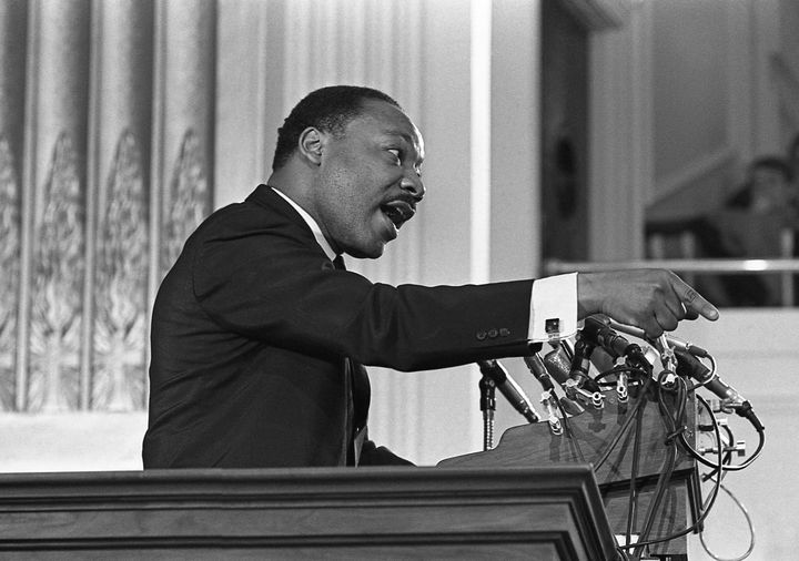 Martin Luther King Jr. speaking about ending the Vietnam War at New York Avenue Presbyterian Church on Feb. 6, 1968.
