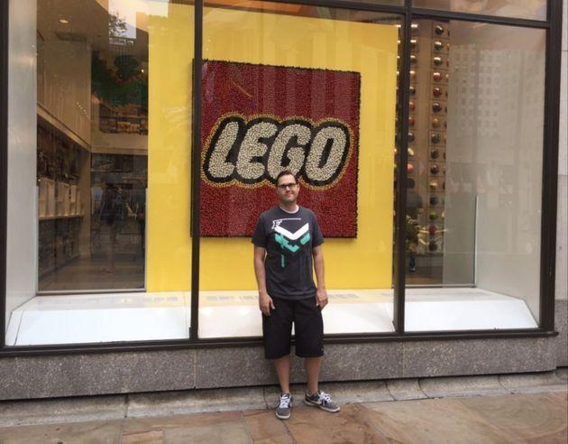 Daryl Austin in front of Rockefeller Center inNew York