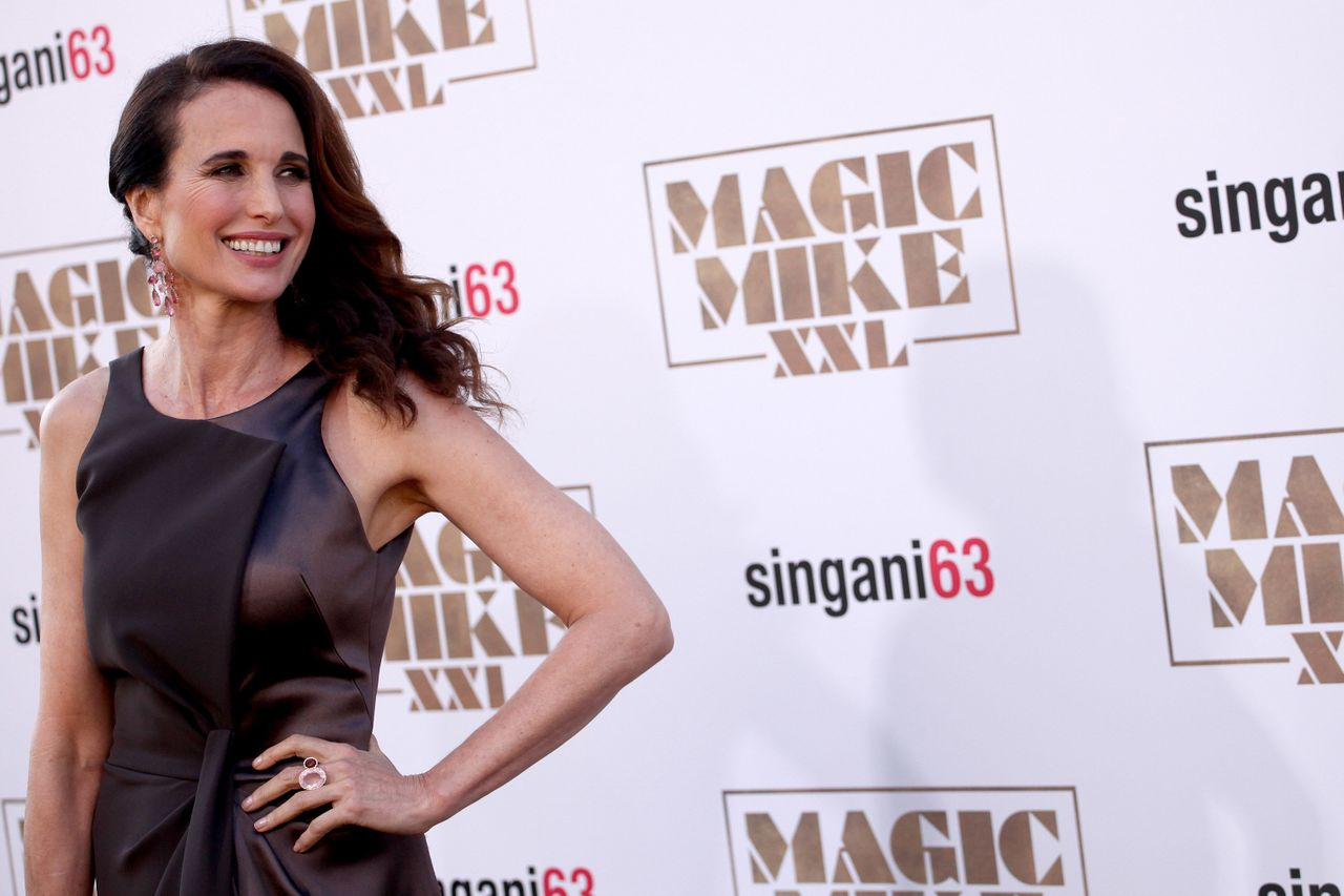 """Andie MacDowell at the 2015 premiere of """"Magic Mike XXL."""""""