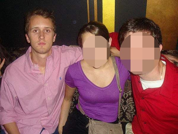 Douglass Mackey, left, in a photo from his former Couchsurfing account.