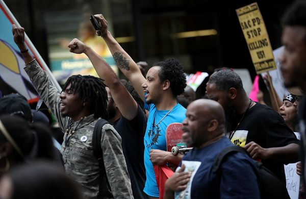 Black Lives Matter protesters took to the streets.