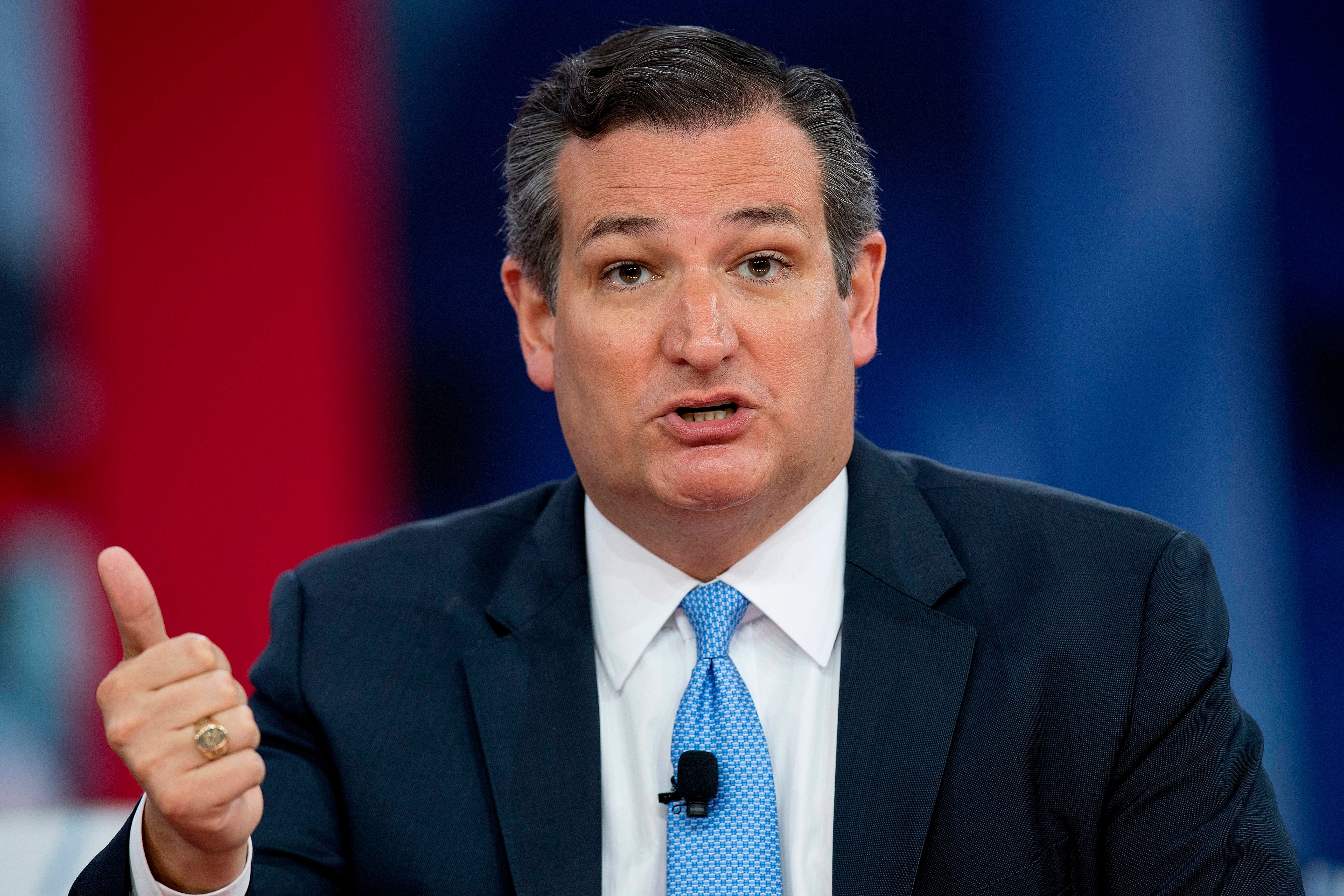 US Senator Ted Cruz, R-Texas speaks during the 2018 Conservative Political Action Conference at National Harbor in Oxon Hill, Maryland, on February 22, 2018. / AFP PHOTO / JIM WATSON        (Photo credit should read JIM WATSON/AFP/Getty Images)
