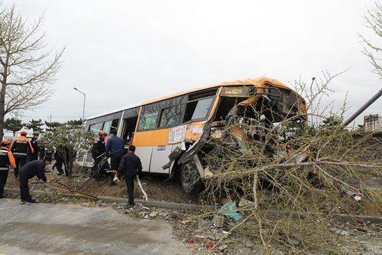 2명이 숨지고 37명이 다친 울산 버스 사고 당시 영상이