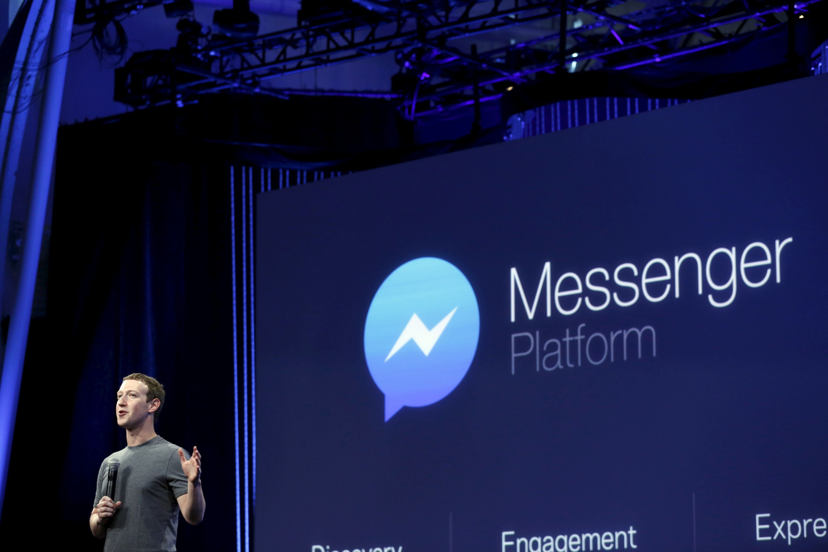 Facebook CEO Mark Zuckerberg speaks during his keynote address at Facebook F8 in San