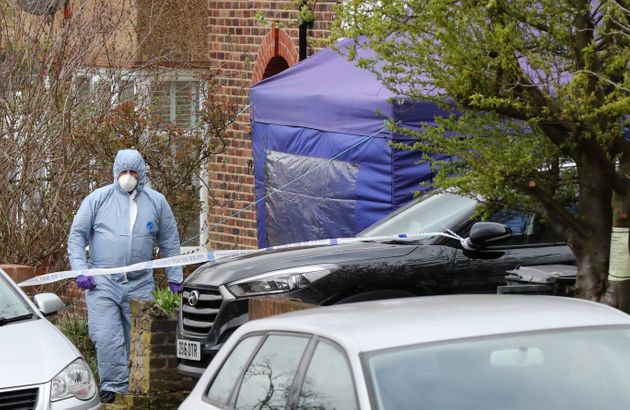 Forensic officers at the