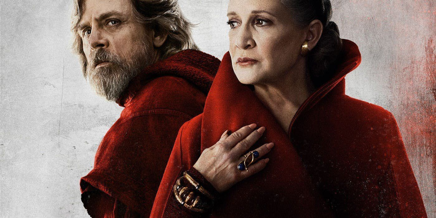 Mark Hamill and Carrie Fisher asLuke Skywalker and General