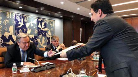 Le ministre des Affaires étrangères et de la Coopération internationale Nasser Bourita...