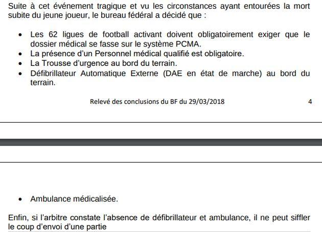 Réglementation de la FAF: Il ne peut y avoir de match sans la présence d'une ambulance et d'un