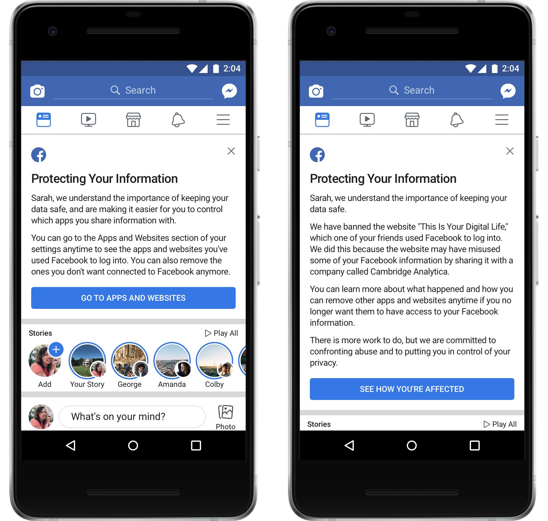 Facebook has started rolling out two custom mes