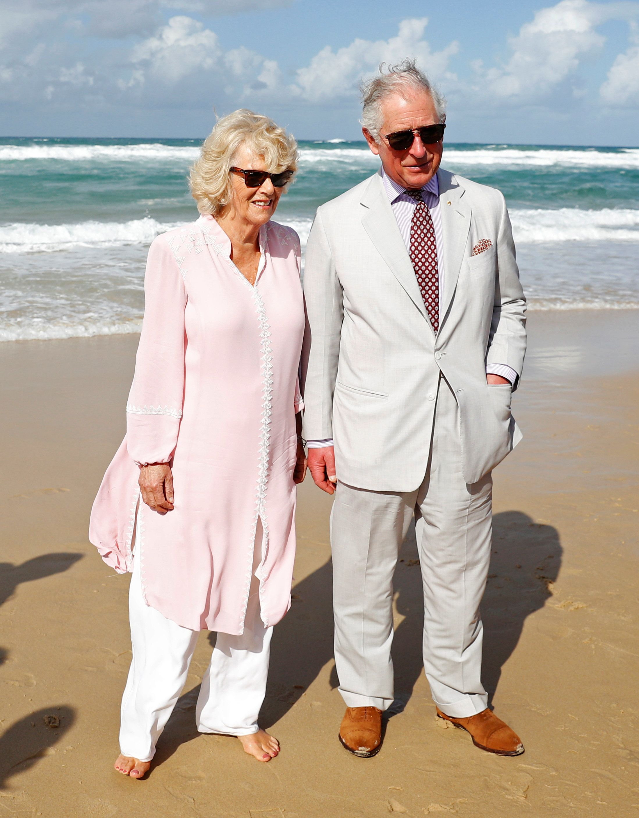 Britain's Prince Charles and Camilla, Duchess of Cornwall visit Broadbeach, Australia April 5, 2018.   REUTERS/Phil Noble