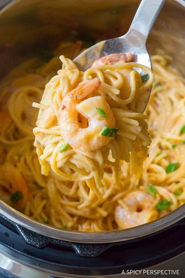 "<strong>Get the<a href=""https://www.aspicyperspective.com/easy-instant-pot-bang-bang-shrimp-pasta/"" target=""_blank"">Ins"