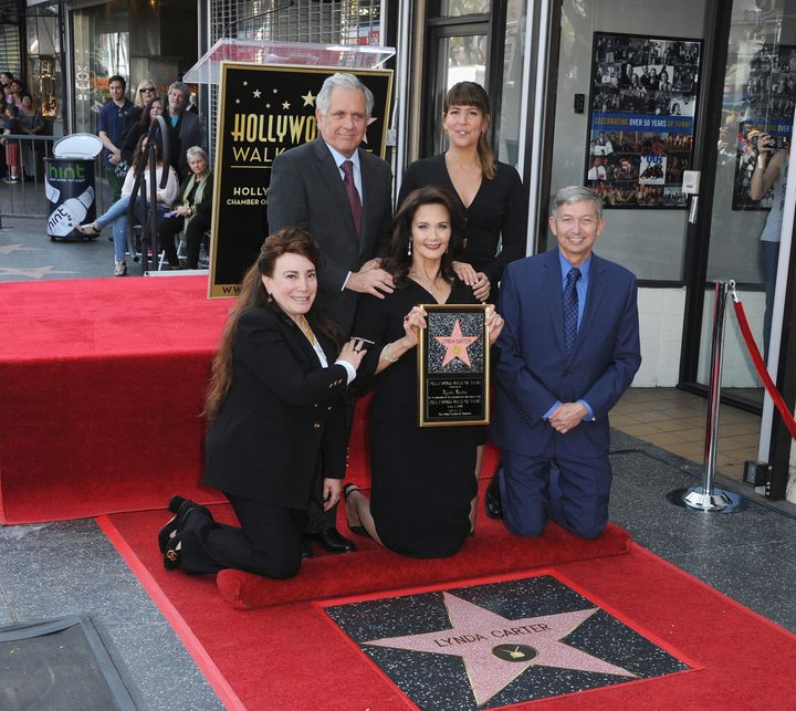 "Carter with friends and the most recent director of ""Wonder Woman,"" Patty Jenkins, at the star ceremony."
