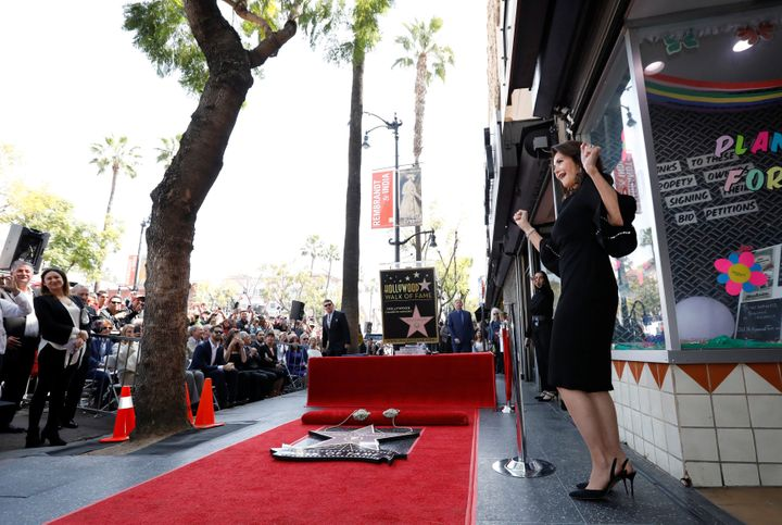 Carter after the unveiling of her star on April 3, 2018.