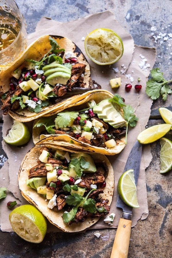 """<strong>Get the <a href=""""https://www.halfbakedharvest.com/instant-pot-spicy-pineapple-chicken-tacos/?highlight=instant+pot"""" t"""