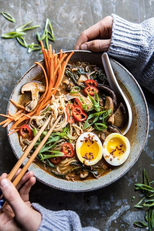 """<strong>Get the <a href=""""https://www.halfbakedharvest.com/better-for-you-instant-pot-chicken-and-spinach-ramen/?highlight=ins"""