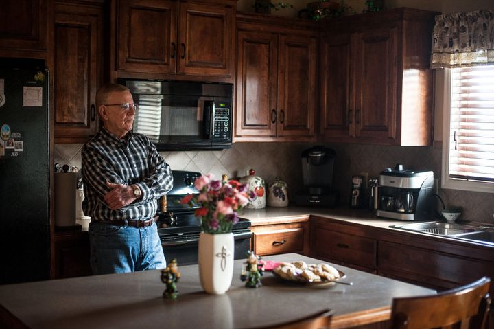 Bob Arthur inside his Missouri home.