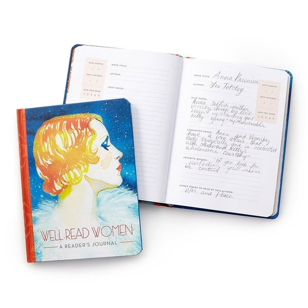 """Get it at <a href=""""https://www.uncommongoods.com/product/well-read-women-a-readers-journal"""" target=""""_blank"""">Uncommon Goods</a"""