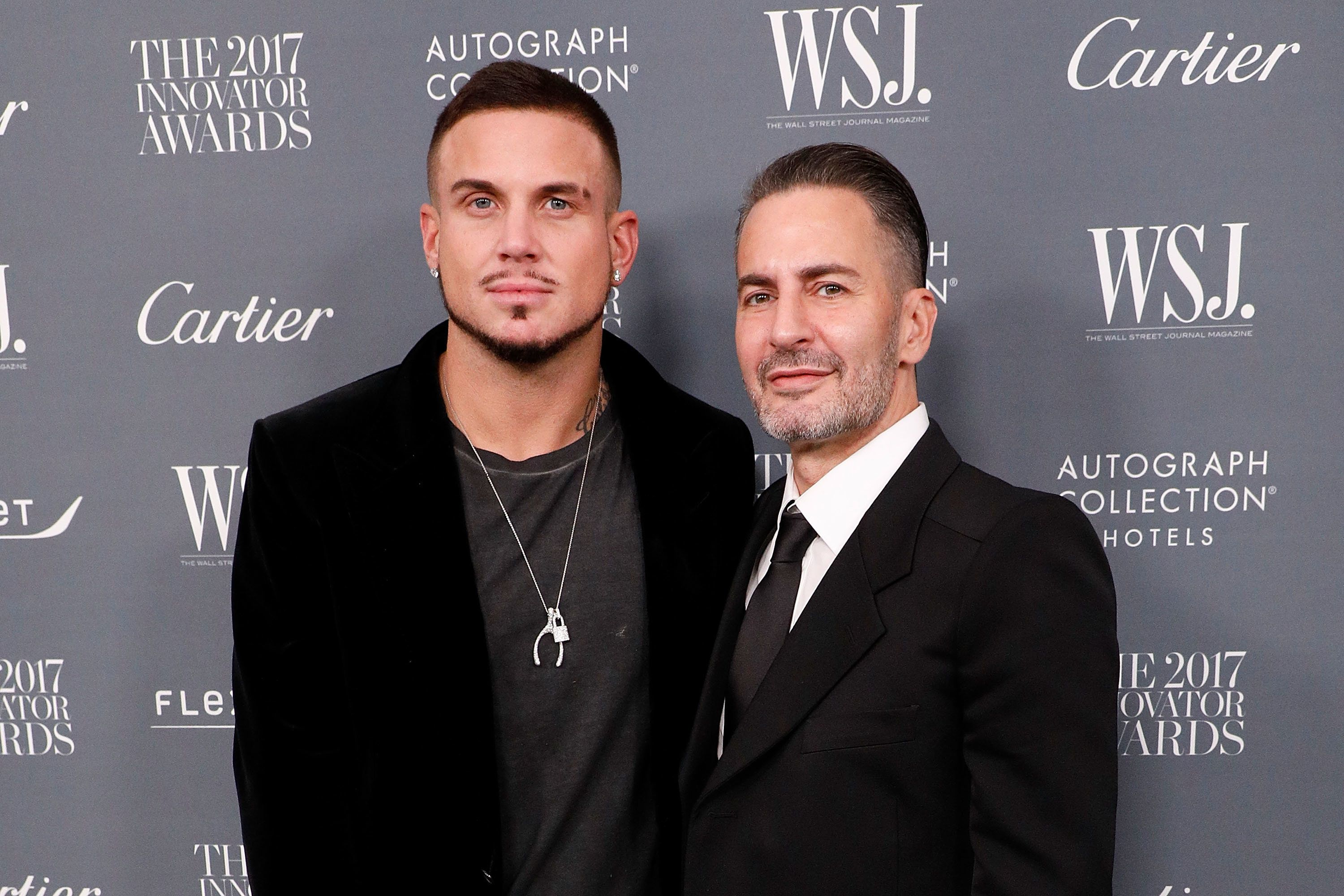 NEW YORK, NY - NOVEMBER 01:  Charly Defrancesco and Marc Jacobs attend the 2017 WSJ Innovator Awards at Museum of Modern Art on November 1, 2017 in New York City.  (Photo by Taylor Hill/WireImage)