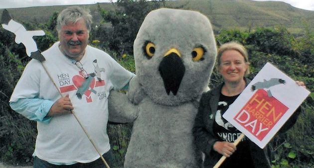 Campaigner Mark Avery and Natalie Bennett with