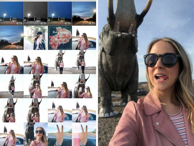 Left: Kayla Short's phone camera roll. She took more photos on her DSLR camera, giving her more than...