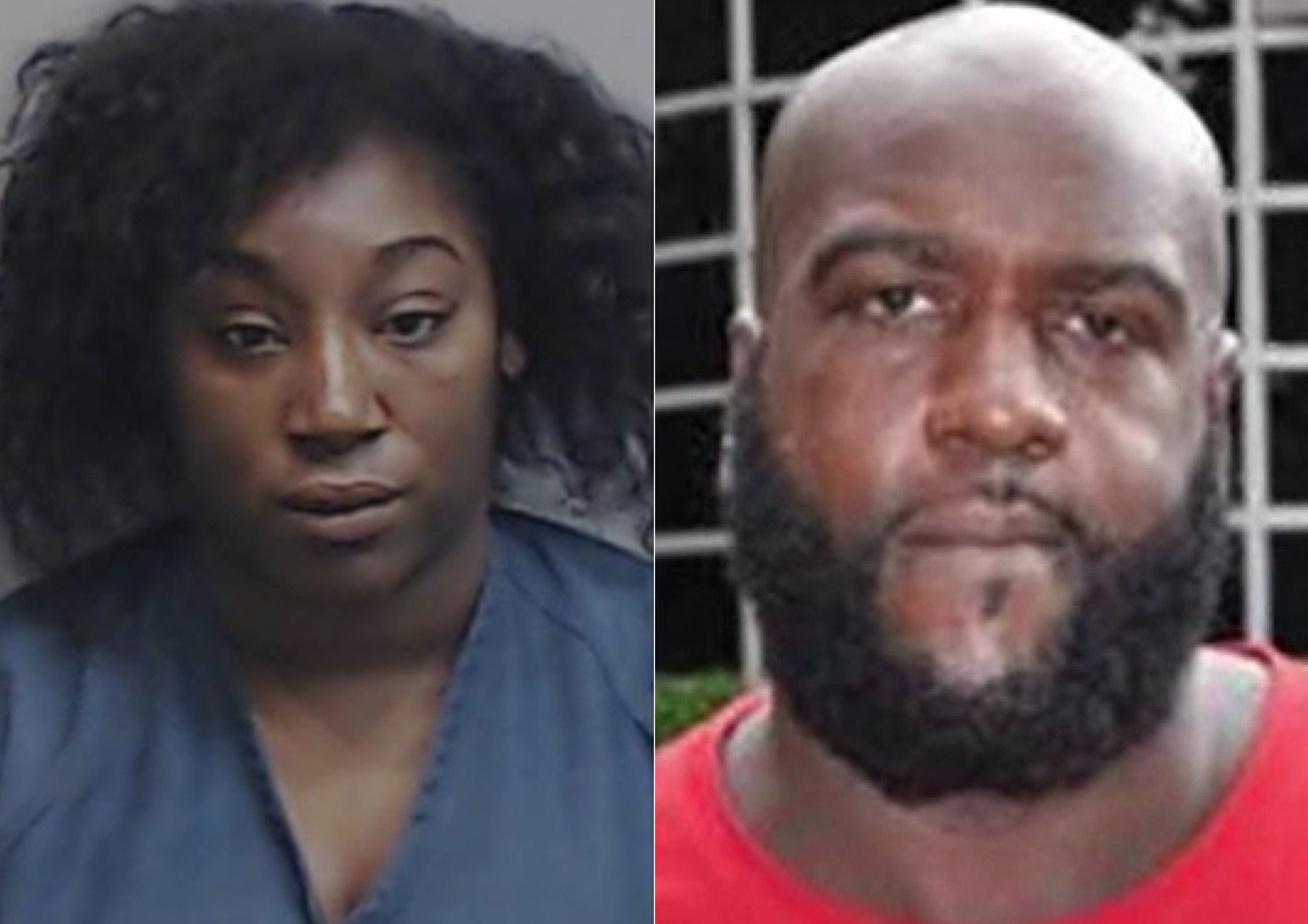 Dominique Berry and Randy Schenck were photographed after their arrests in Fulton County, Georgia, on charges unrelated to th
