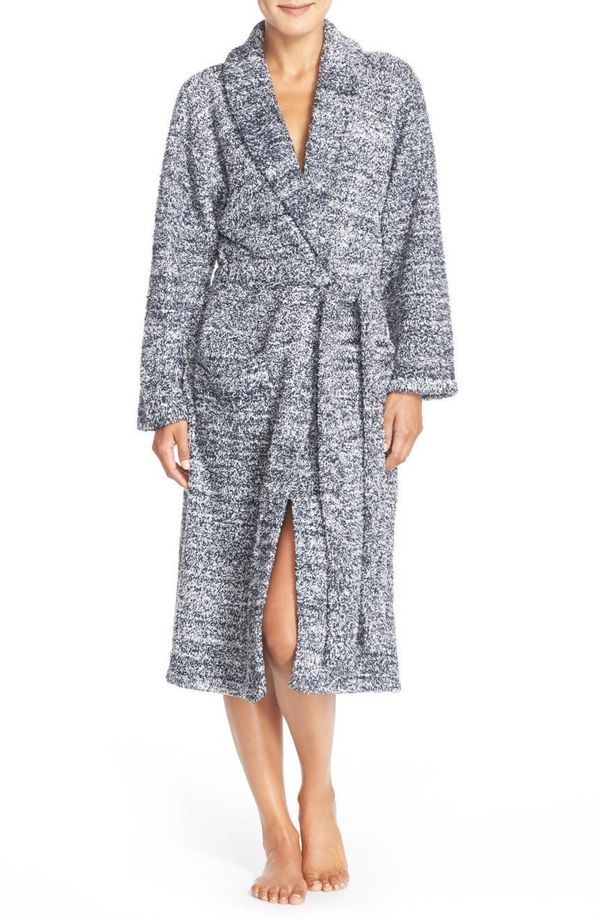 """After a tiring day, let her wind down with this comfy robe. Get it at <a href=""""https://shop.nordstrom.com/s/barefoot-dreams-c"""