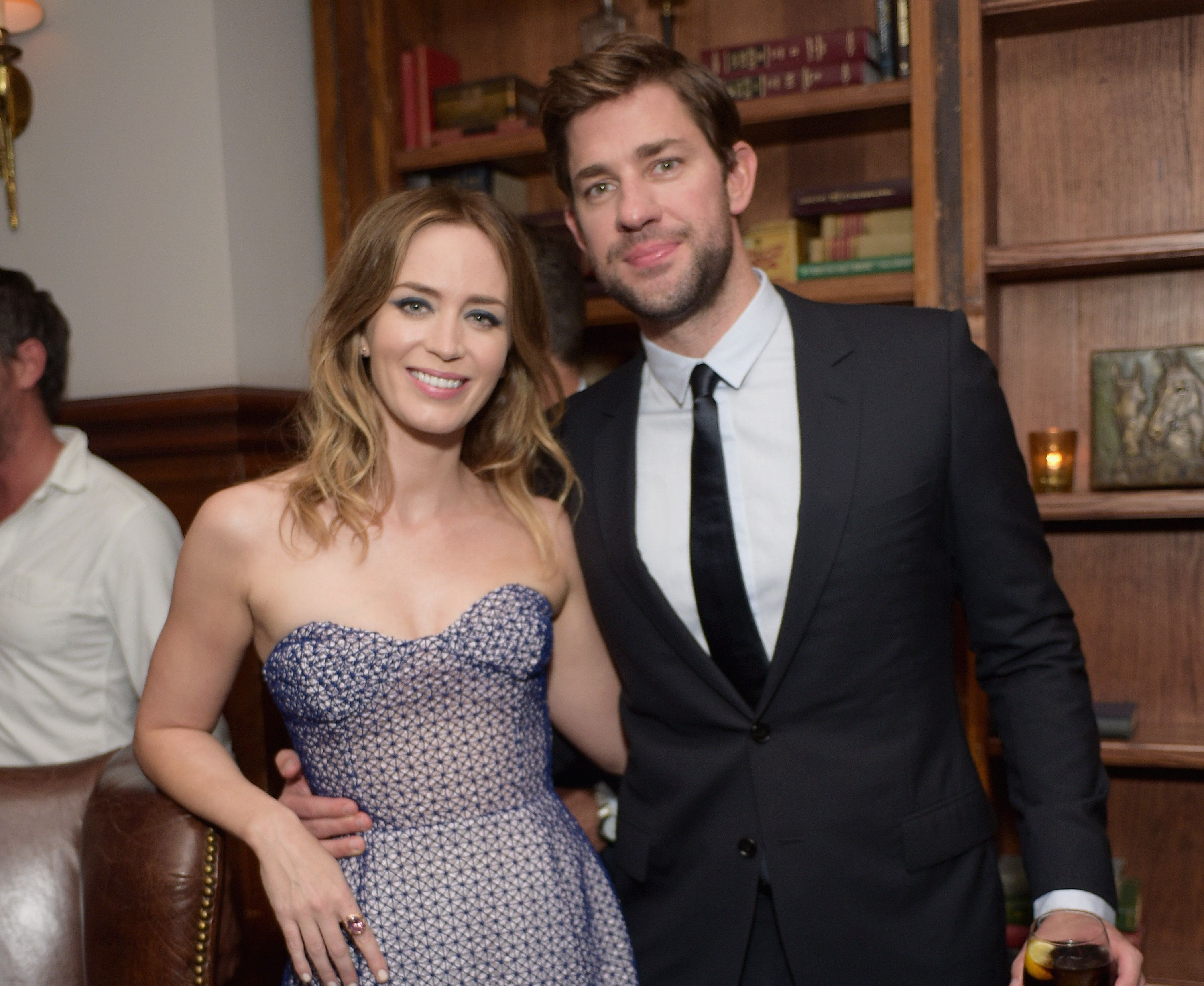 TORONTO, ON - SEPTEMBER 11:  Actors Emily Blunt (L) and John Krasinski attend the Sicario TIFF party hosted by GREY GOOSE Vodka and Soho Toronto at Soho House Toronto on September 11, 2015 in Toronto, Canada.  (Photo by Stefanie Keenan/Getty Images for Grey Goose Vodka)