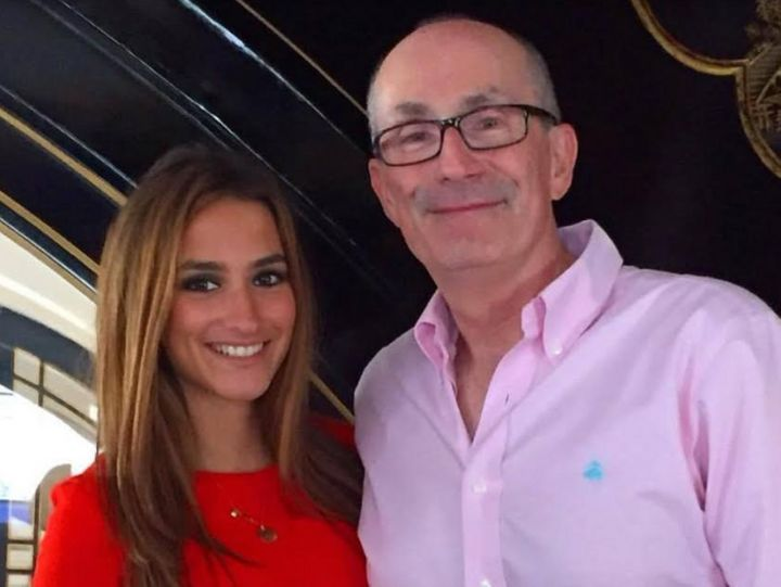 Claudia Green pictured with her dad.