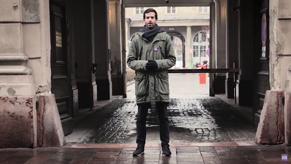 András Fekete-Győrin einem Wahlwerbespot der