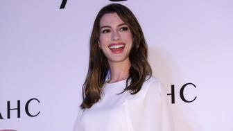 SEOUL, SOUTH KOREA - FEBRUARY 27:  Actress Anne Hathaway attends the photocall for the 'AHC' on February 27, 2018 in Seoul, South Korea.  (Photo by Han Myung-Gu/WireImage)