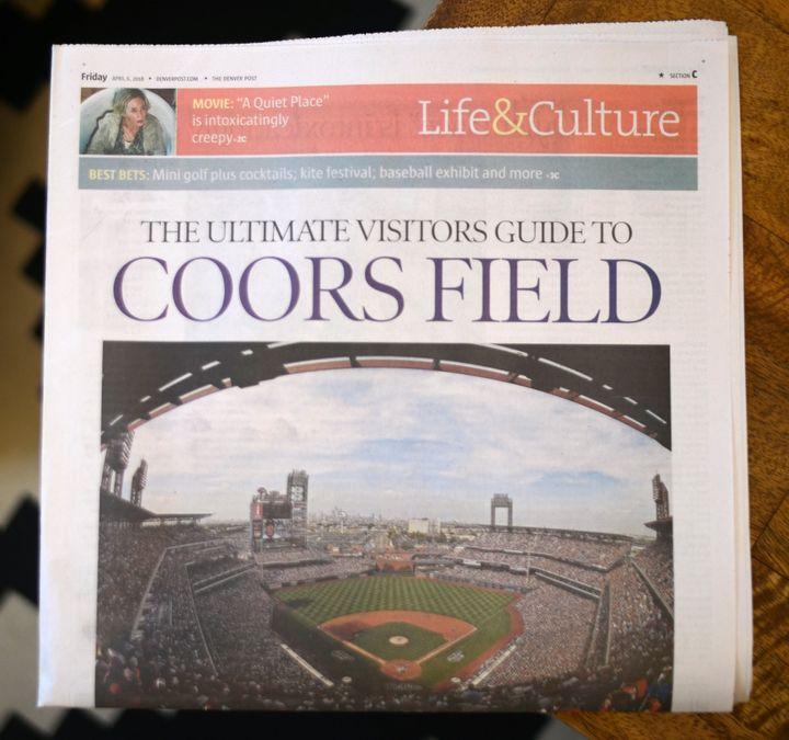 "The Denver Post's ""Ultimate Visitors Guide to Coors Field"" accidentally used a photo of the wrong ballpark."