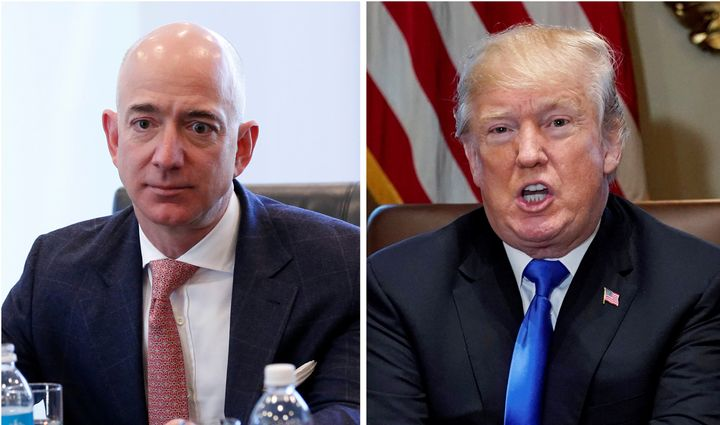 President Donald Trump's attacks on Amazon CEO Jeff Bezos have nothing to do with anything the online retail giant has done.