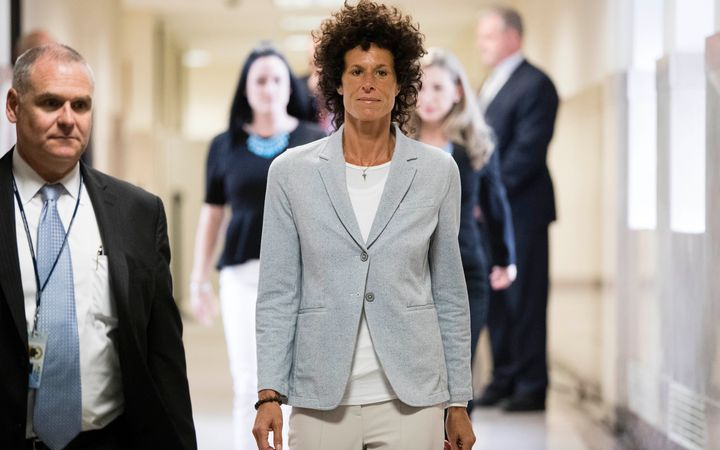 Andrea Constand walks to the courtroom during the first Cosby trial on June 6, 2017.