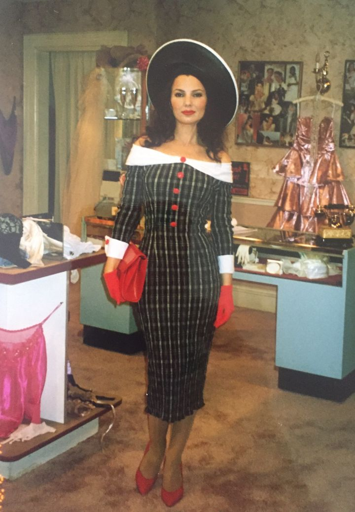 """Brenda Cooper: """"This outfit was actually working outside the box. As you well know, I usually never put Fran in below-the-kne"""